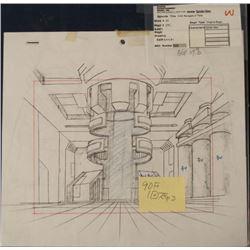 Original Spider Man Animation Drawing Art w/ COA