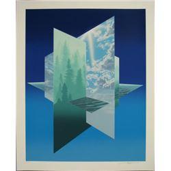 Frank Licsko TRIPLE PLANE Surreal Landscape Art Print