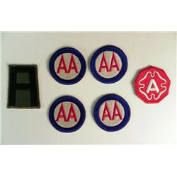 6 WWII USAAF PATCHES-1ST ARMY (OLD)-9TH ARMY-AA COMMAND