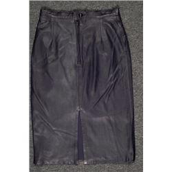 Udo Ladies Black Leather Skirt Size 42