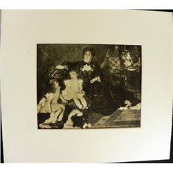 Madam G Charpentier and her Children Engraving Renoir