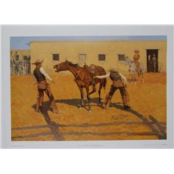 His First Lesson by Frederic Remington Fine Art Print