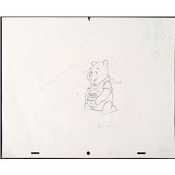 Winnie the Pooh Original Animation In Heaven Drawing
