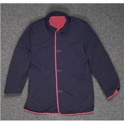 Ladies Black & Quilted Red Reversible Coat Jacket