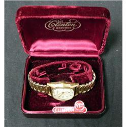 Old Original Clinton Watch 17 Jewels  Original Box