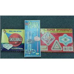 Lot of 3 Vintage Games, KerPlunk, Skillball