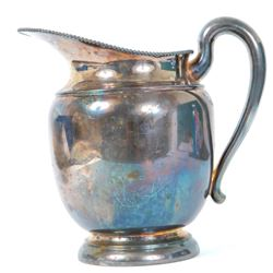 Vintage 1940's Silver on Copper Water Pitcher