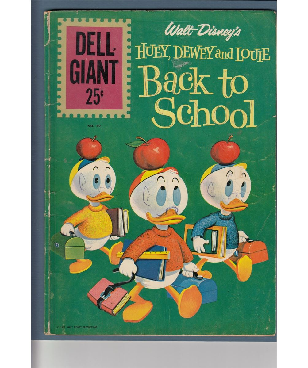 Huey, Dewey & Louie Back to School, Dell Giant #49(1958) G A  Comic