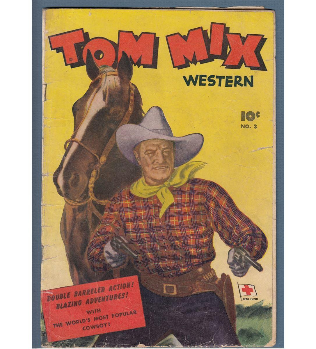 1043dd2f Image 1 : Tom Mix #3(1948) G.A. Western Comic ...
