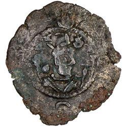 SASANIAN KINGDOM: Khusro I, 531-579, AE pashiz (1.18g), year 25