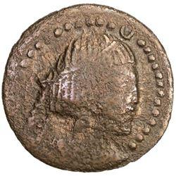 BUKHARA: Asbar, ca. 5th century, AE cash (1.82g)