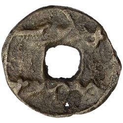 SAMARKAND: Wuzurg, ca. 645-650, AE cash (1.97g)