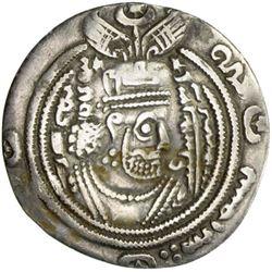 ARAB-SASANIAN: 'Ubayd Allah b. Ziyad, 673-683, AR drachm (2.70g), AYRAN (Hulwan), PYE30