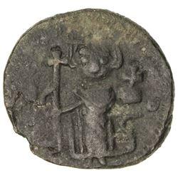 "ARAB-BYZANTINE: Standing Emperor, ca. 680-700+, AE fals (3.76g), ""pseudo-Damascus"""