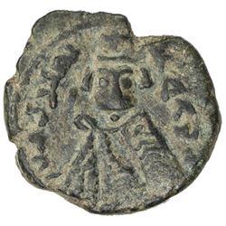 ARAB-BYZANTINE: Imperial Bust, ca. 680-690, AE fals (4.73g), Tardus (Antardos), ND