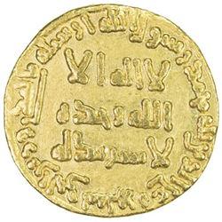 ABBASID: al-Mansur, 754-775, AV dinar (4.24g), NM, AH139
