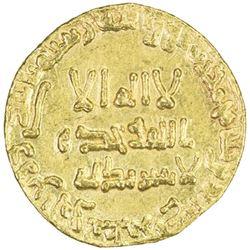 ABBASID: al-Mansur, 754-775, AV dinar (4.15g), NM, AH142