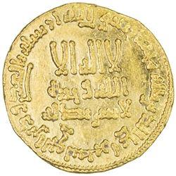 ABBASID: al-Mansur, 754-775, AV dinar (4.25g), NM, AH158