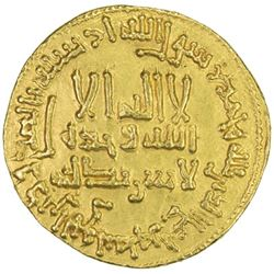 ABBASID: al-Mahdi, 775-785, AV dinar (4.18g), NM, AH167