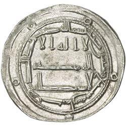 ABBASID: al-Mahdi, 775-785, AR dirham (2.91g), Kirman, AH167