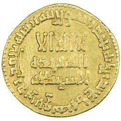 ABBASID: al-Hadi, 785-786, AV dinar (4.22g), NM, AH169