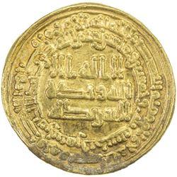 ABBASID: al-Mu'tazz, 866-869, AV dinar (4.15g), Samarqand, AH253