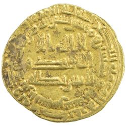 ABBASID: al-Mu'tazz, 866-869, AV dinar (3.78g), al-Shash, AH253