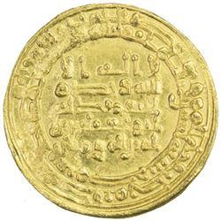ABBASID: al-Muqtadir, 908-932, AV dinar (4.24g), Misr, AH302
