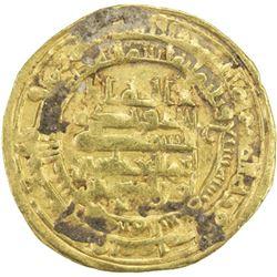 ABBASID: al-Muqtadir, 908-932, AV dinar (3.91g), Madinat al-Salam, AH307