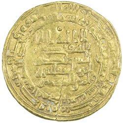 ABBASID: al-Muqtadir, 908-932, AV dinar (3.28g), Hamadan, AH317