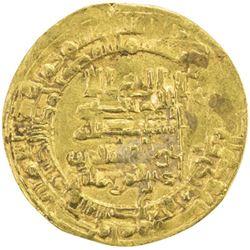 ABBASID: al-Qahir, 932-934, AV dinar (3.10g), Mah al-Basra, AH321