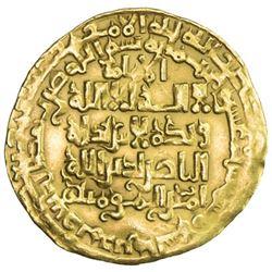 ABBASID: al-Nasir, 1180-1225, AV dinar (2.52g), Madinat al-Salam, AH616