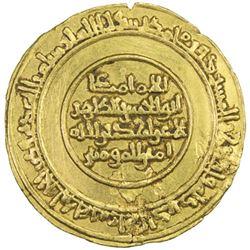 FATIMID: al-Zahir, 1021-1036, AV dinar (4.12g), Misr, AH426