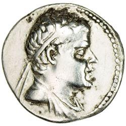 INDO-GREEK: Eukratides I, ca. 170-145 BC, AR drachm (4.05g)