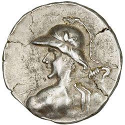 INDO-GREEK: Eukratides I, ca. 170-145 BC, AR tetradrachm (16.91g)