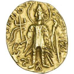 KUSHAN: Vasu Deva II, ca. 290-310, AV stater (7.76g)