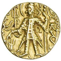 KUSHAN: Vasu Deva II, ca. 290-310, AV stater (7.77g)