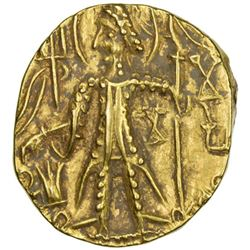 KUSHAN: Mahi, usurper, 4th century, AV stater (7.76g)