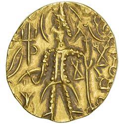 KUSHAN: Mahi, usurper, 4th century, AV stater (7.78g)