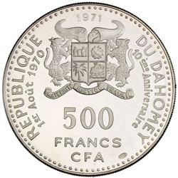 DAHOMEY: AR 500 francs, 1971
