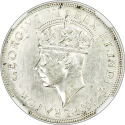 EAST AFRICA & UGANDA: George VI, 1936-1952, AR shilling, 1941-I