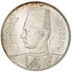 EGYPT: Farouk, 1936-1952, AR 20 piastres, 1939/AH1358