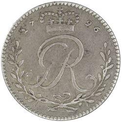 GOLD COAST: George III, 1760-1820, AR tackoe, 1796