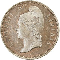 LIBERIA: AE cent, 1890