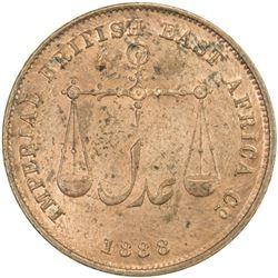 MOMBASA: AE pice, 1888/AH1306-C/M