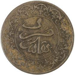 MOROCCO: al-Hasan, 1873-1894, AE 4 falus, Fès, AH1310, Y-3, lovely EF