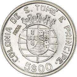 ST. THOMAS & PRINCE: AR 5 escudos, 1939