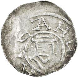 HOLY ROMAN EMPIRE: Otto III, 983-1002, AR Otto-Adelheid pfennig (1.53g), Goslar, ND