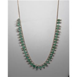 #8 10K GOLD EMERALD 26.05ct & 40 SIDE DIAMONDS