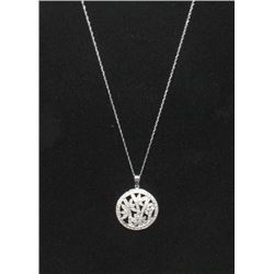 #10 14K GOLD 74 DIAMOND 0.50ct PENDANT NECKLACE